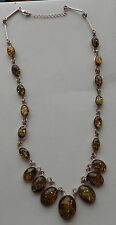 BALTIC GREEN AMBER NECKLACE WOMEN 19.5