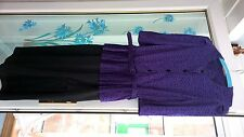vintage 1970s purple and black dress siz18