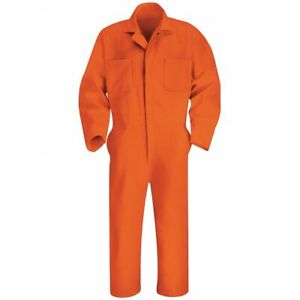 RED KAP Work Coverall Heavy Duty NEW - Size 34RG Orange, 65%polyester 35%cotton.