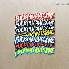 F--KING AWESOME skateboard sticker Jason Dill decal bumper Supreme logo Huf mini