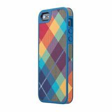 Speck Fabshell Case iPhone 5 5s Megaplaid Spectrum Harbor Blue