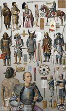 Samurai Warriors japonais Japon du XIXe siècle Costumes Armour 7x4 cm print
