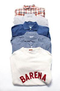 Buonamassa Eidos Barena Hamilton Mens Shirts Tops Blue White Red Size L Lot 5