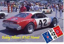 CD_2750 #42 Bobby Allison   AMC Hornet   1:25 scale decals