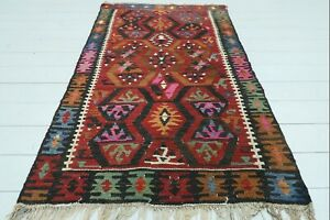 "Doormat, Turkish Kayseri Small Kilim Bathmat Small Carpet Teppiche Tapis 36""x59"""