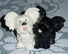 Goebel Skye Terrier Puppy Dogs Figurine West Germany White Black Mates - Gift!