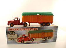 Dinky Toys F 36B Tracteur Willème avec semi-remorque bâchée savoyarde en boîte