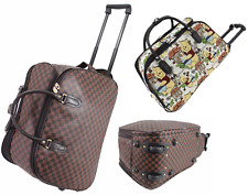 New HandLuggage Wheeled Travel Bag Holdall Cabin Approved Trolley Case Large UK