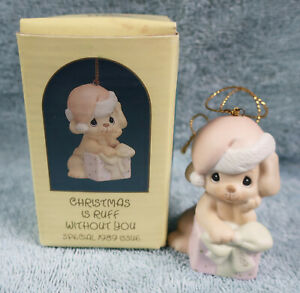 Precious Moments Ornament Christmas Is Ruff Without You #520462 1989 Special