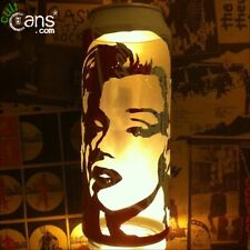Marilyn Monroe Beer Can Lantern! Pop Art Portrait Candle Lamp , Unique Gift!
