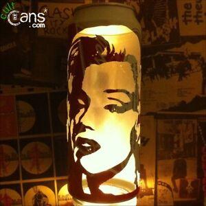 Marilyn Monroe Beer Can Lantern! Pop Art Portrait Candle Lamp , Unique Gift!