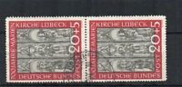 Germany -  West Germany 1951 20pf + 5pf Charity FU CDS vertical pair
