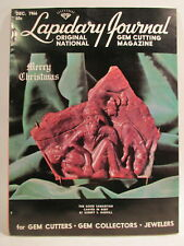 Lapidary Journal Magazine 1966 December The Good Samaritan Carved in Ruby by .
