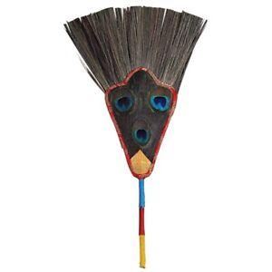Tibet Buddhist Peacock Feather Handheld Fan 3 Eyes Divine Focus Ritual Decor