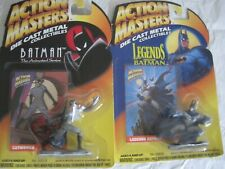 2 X DIECAST BATMAN ACTION MASTERS, BATMAN & CATWOMAN, INTERLOCKING COMPANIONS