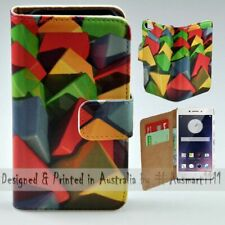 For OPPO Series - Colour Cubes Theme Print Wallet Mobile Phone Case Cover