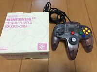 Nintendo 64 Controller Clear Purple Color  with BOX Japan 035