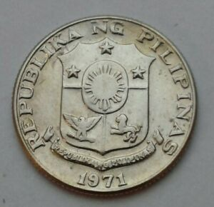 Philippines 10 Sentimos 1971. KM#198. Ten Cents coin. Dime.