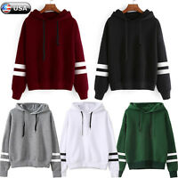 Women Hoodie Sweatshirt Long Sleeve Sweater Blouse Jumper Pullover Tops Coat New