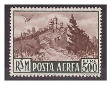SAN MARINO 1951 - POSTA AEREA  VEDUTA    500  LIRE    NUOVO *