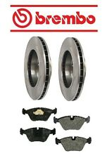 Jaguar XJR 1995-1997 Front Brake KIT Disc Rotors & Pad Set Brembo/Mintex