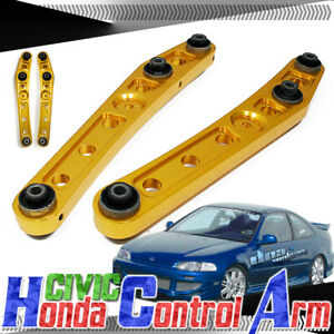 CIVIC EE EJ EH/CRX/DEL SOL EG/INTEGRA JDM GOLD REAR LOWER CAMBER CONTROL ARM/BAR