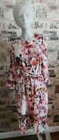 Marks&Spencer Autograph Floral Print Belted Tunic Midi Dress Size 12 UK