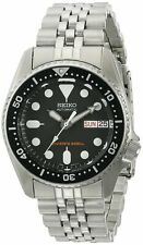 Seiko Men's Skx013K2 Black Dial Automatic Stainless Steel Divers Midsize Watch