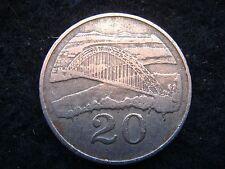 1980 Zimbabwe  Africa 20 cents coin fine grade