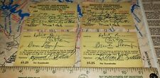 Vintage 1969 Kentucky Non-Resident 15 Day Fishing License Lot Of 2