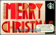 STARBUCKS SAN FRANCISCO USA MERRY CHRISTMAS SANTA CLAUS COLLECTIBLE GIFT CARD