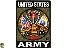 United States Army Iron On Patch 2 x 2.75 inch Free Ship Military Veteran P1371