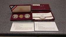 1984 - US Mint Olympic Commemorative Proof Coin set $10 Gold & 2 Silver Dollars