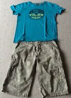 Bekleidungspaket Jungen 2teilig Bermuda Short kurze Hose T-Shirt Gr.158 Gr.164