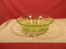 "Anchor Hocking Depression Glass Colonial Green 8 7/8"" Round Serving Bowl"