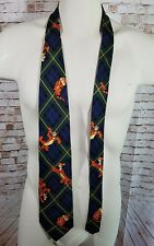 The Disney Store Tigger Blue Green Plaid Tie 100% Silk Necktie New With Tags