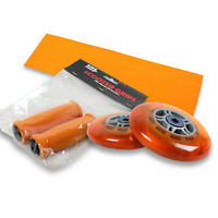 Upgrade Pack for Razor Scooter Orange Wheels, Handle Grips, Griptape, Bearings