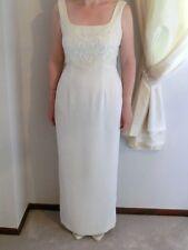 Victoria Jane by Ronald Joyce Vintage White Wedding Evening Dress Size UK14