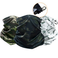 Tactical Camouflage Face Mask Reusable Neck Gaiter Scarf Breathable Balaclava Us