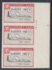 GUERNSEY-SARK COMMODORE: 1965 EUROPA opt on 1/- Aircraft-AT SC73 IMPERF str. MNH