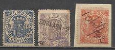9232-LOTE SELLOS FISCALES PARA TIMBRE MOVIL AÑO 1902,10,25 Y 50 CENTIMOS.33,00€