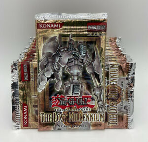YuGiOh The Lost Millennium First Edition Factory Sealed 24 Booster Packs