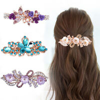 Fashion Women Crystal Hair Clips Barrette Rhinestone Flower Hair Pin Accessories