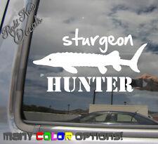 Sturgeon Hunter - Fishing Fish High Quality - Car Auto Vinyl Decal Sticker 04040