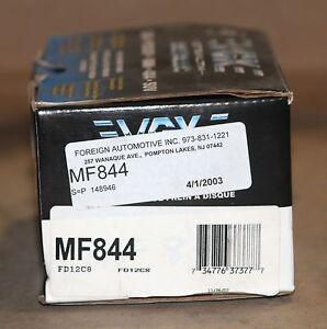 Fits 01-07 Buick Chevrolet Oldsmobile Pontiac VGX Front Brake Pad Set MF844 NEW