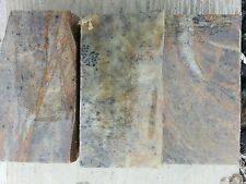 3PC 4x2x1.25 Soapstone for carving block slab rock pipe making pipe pendant