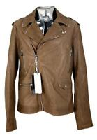 Billionaire Italian Couture Leather Biker Jacket XL EU54 RRP £1950 Brown