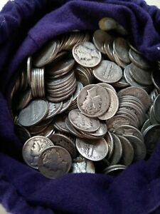 Mercury Silver Dimes Roll - 50 Coins - 90% Silver