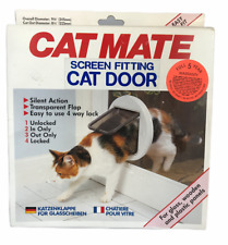 Cat Mate Screen Fitting Cat Door For Glass Wooden & Plastic Panels New