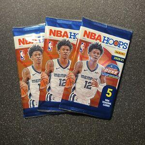 3 X Panini 2020-21 NBA Hoops Basketball Retail Pack Sealed. Australia Exclusive